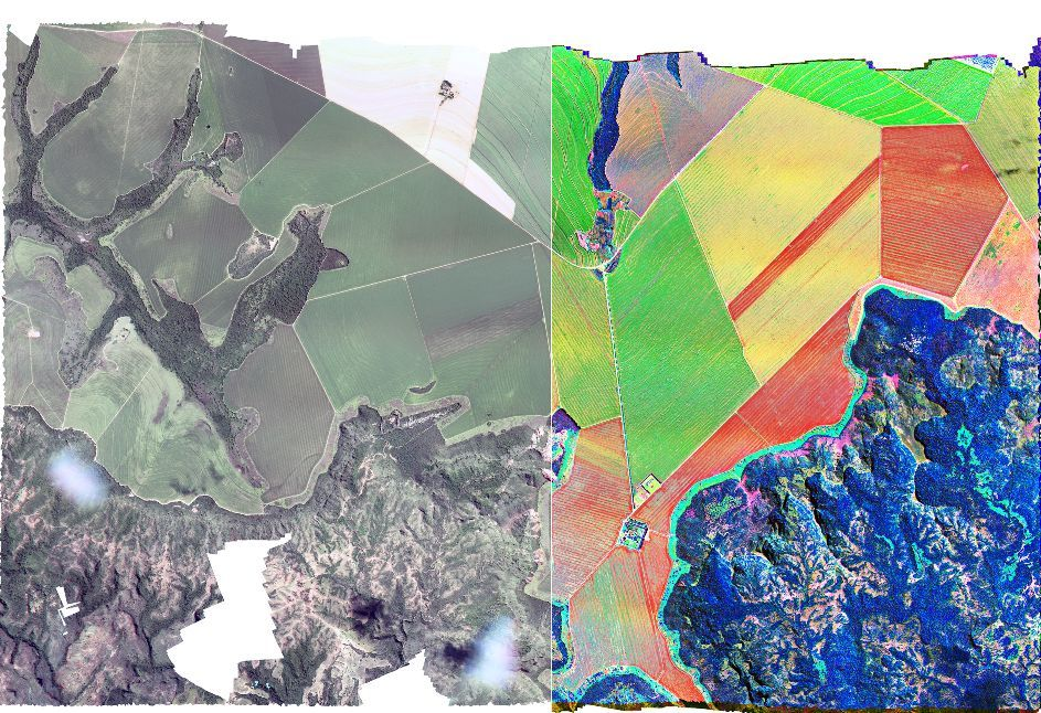 Hyperspectral aerial imagery from Gamaya. The images provide data for analysis and predictions.