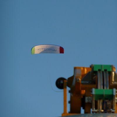 KITEnergy's parasail-sized kite acts as turbine to create renewable energy.