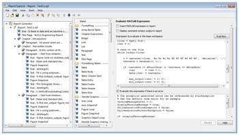 Figure 4: The Report Generator interface.