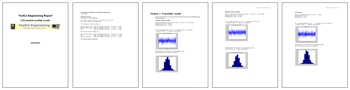 Figure 5: LTE reports generated with MATLAB Report Generator.
