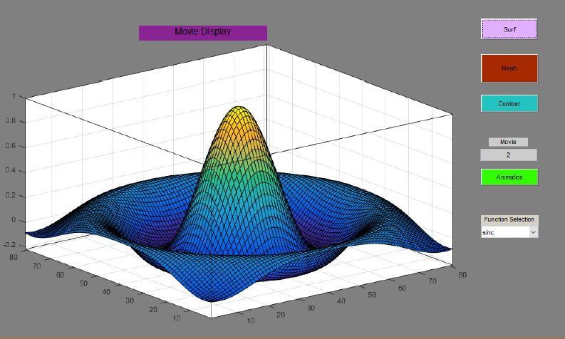 Figure 1. GUI created by a student in MATLAB.