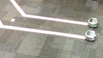 Figure 1. Khepera robots, programmed by students in ECE 4555.