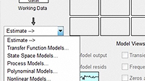 Estimate multiple models and validate against the validation data set.