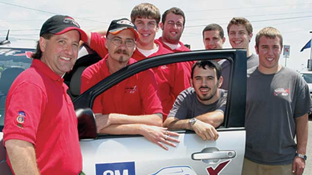 Rose-Hulman Institute of Technology Students Design Hybrid Vehicle Powertrain