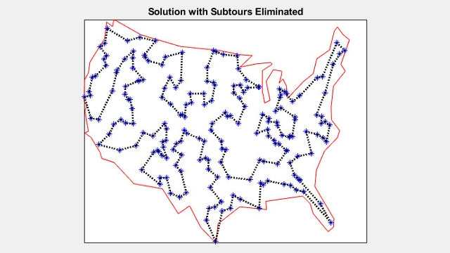 Solution of a 200 City Traveling Salesman Problem
