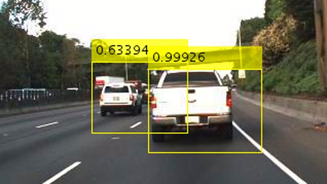 Object detection using Faster R-CNN.