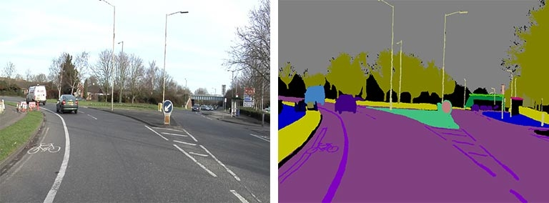 Semantic Segmentation - labeling highway scene
