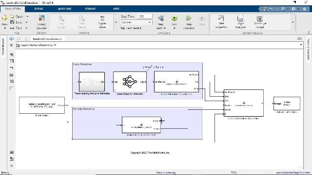 See how you can use the Deep Learning Toolbox block library as well as MATLAB Function block to simulate trained deep learning models in Simulink.