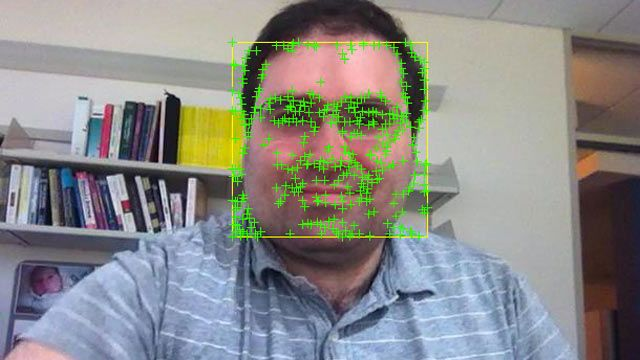 Face Detection and Tracking Using the KLT Algorithm