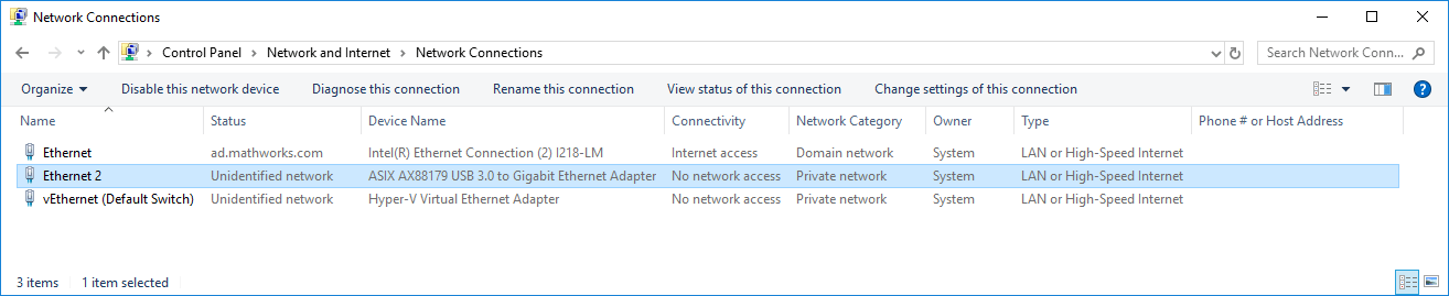 Configure Ethernet Connection Manually on Windows 10