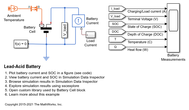 Lead Acid Battery Matlab Simulink