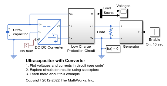 Ultracapacitor With Converter - MATLAB & Simulink