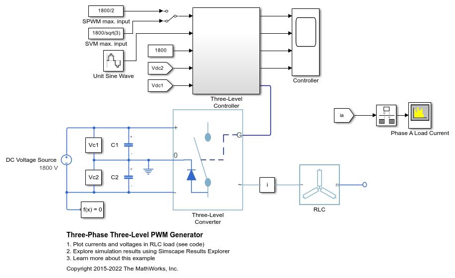 Three-Phase Three-Level PWM Generator - MATLAB & Simulink