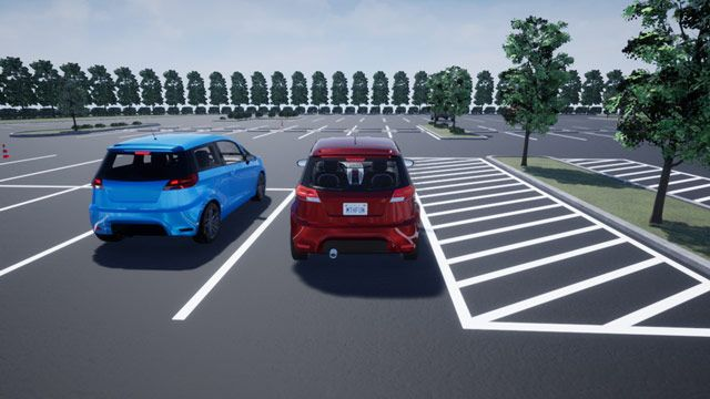 Driving path planning and visualization in a 3D environment.