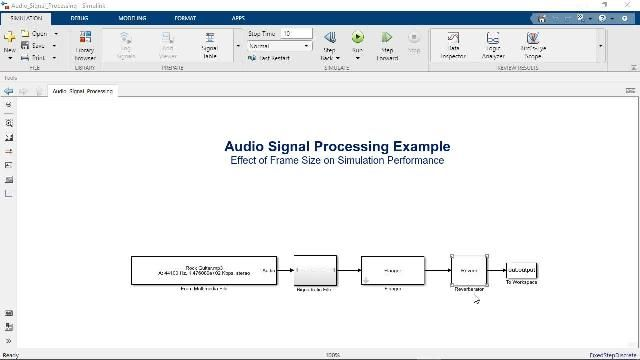 Learn how to use frame-based processing in Simulink to accelerate model simulations and mimic the behavior of real-time systems.