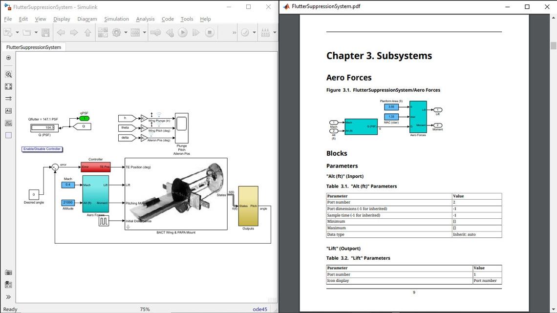 System design description (SDD) report from a model.