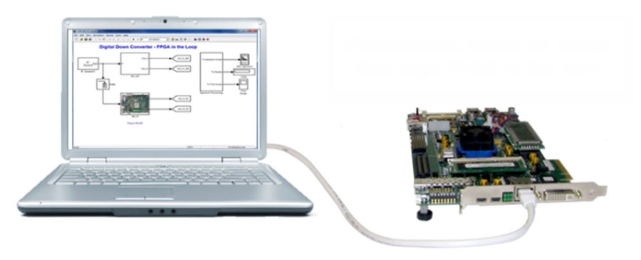 HDL Verifier supports FPGA-in-the-loop verification using Xilinx®, Intel®, and Microsemi® FPGA boards.