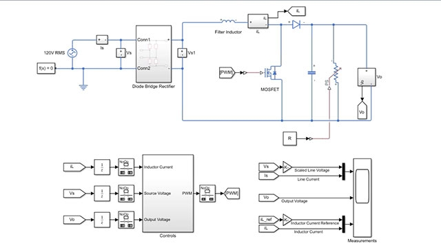 Learn how to model a Boost Power Factor Corrector and tune controller gains to improve power factor using Simulink.