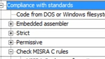 Check code for compliance to MISRA C rules, identify and fix violations, and generate a report for documentation.