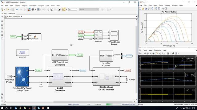 Learn how to develop an MPPT algorithm using Simulink and to implement the algorithm on a microcontroller using C code generated from the model using Embedded Coder and TI C2000 support package.