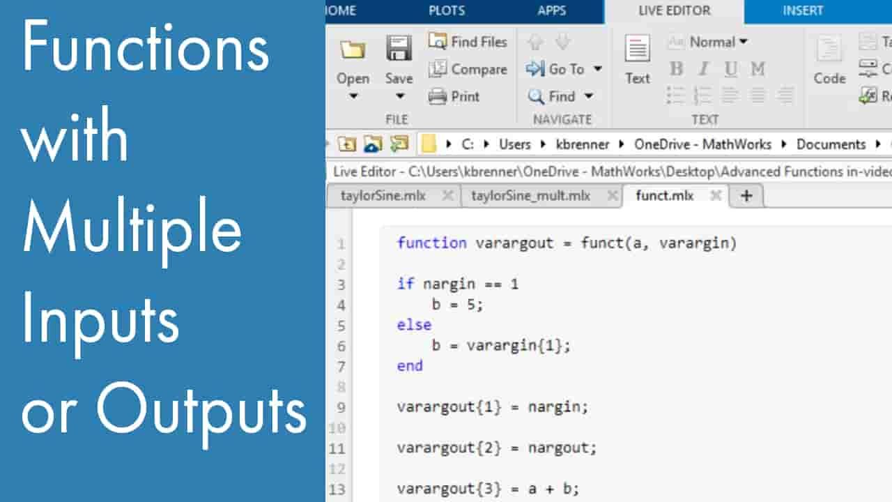 Learn how to use functions in MATLAB.