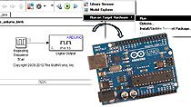 Install the Arduino support package, create a simple model, and download the model to Arduino Uno using a step-by-step workflow with Simulink .