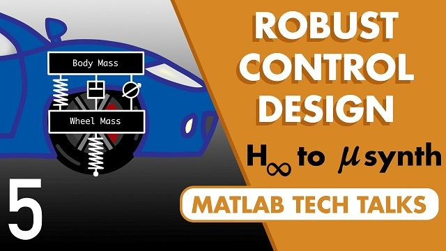 This video goes through a robust controller design for an active suspension system. We start with H infinity synthesis to design a controller for a nominal plant model and then expand on that concept to design a robust controller using mu synthesis.
