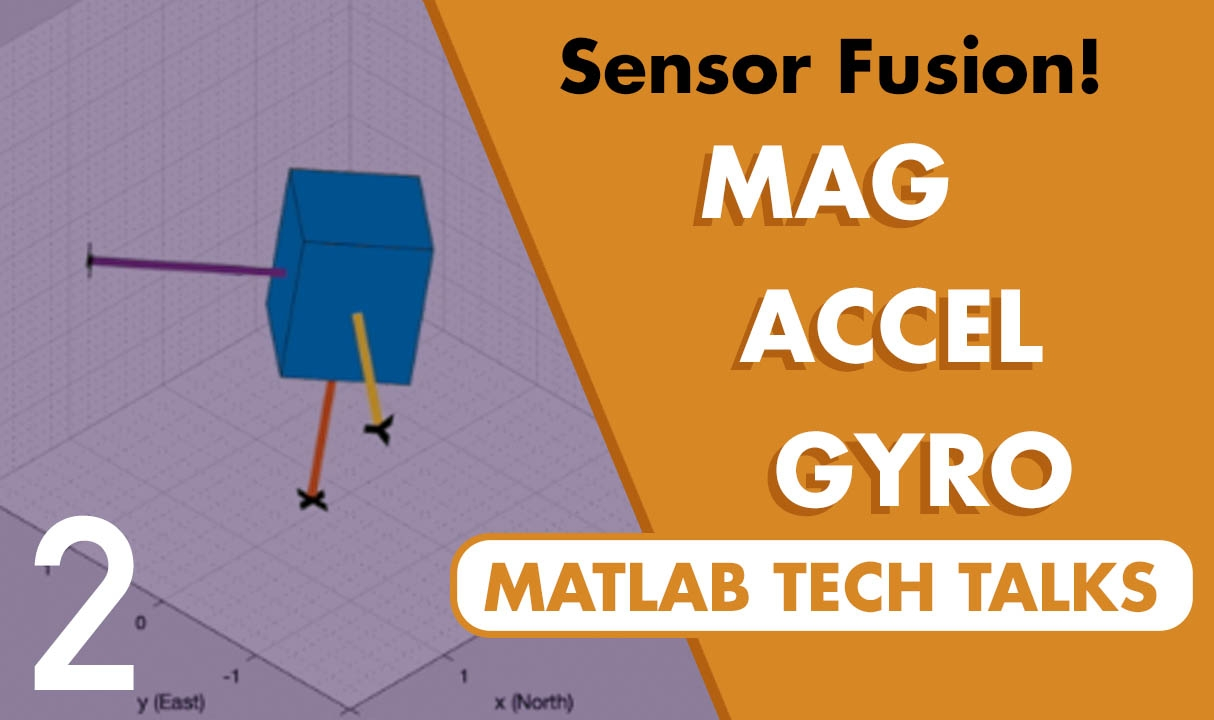 This video describes how we can use a magnetometer, accelerometer, and a gyro to estimate an object's orientation. The goal is to show how these sensors contribute to the solution, and to explain a few things to watch out for along the way.